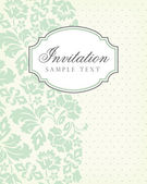 Vector vintage background and frame with sample text for invitation or announcement