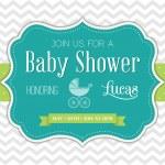 Baby Shower Invitation. Vector illustration