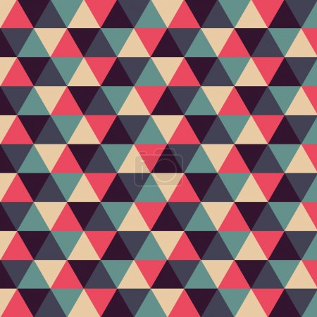 Illustration pour Fond géométrique avec triangles, illustration vectorielle - image libre de droit