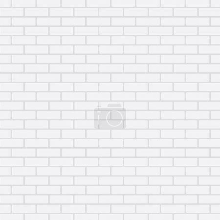 Illustration pour Mur de briques blanches, fond vectoriel - image libre de droit