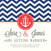 Nautical wedding invitation card