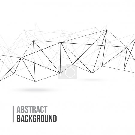 Illustration pour Contexte polygonal abstrait - image libre de droit