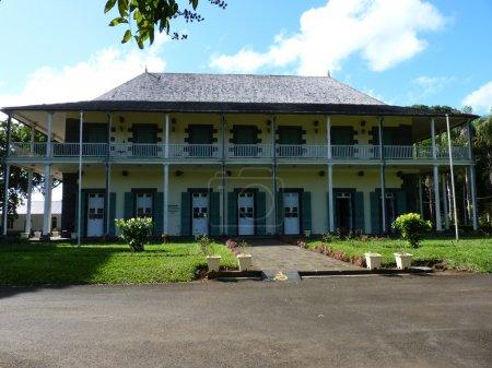 Photo pour Mon Plaisir Castle in Sir Seewoosagur Ramgoolam Jardin botanique à Pamplemousses, Maurice - image libre de droit