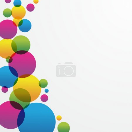 Creative coloured circles background