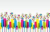 Creative Coloured Mix Champaign Glass vector illustration