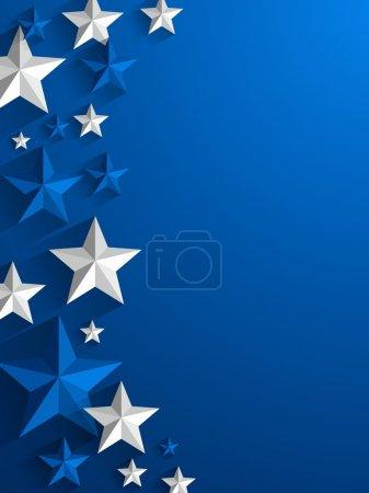 Illustration for Creative Stars background vector illustration - Royalty Free Image