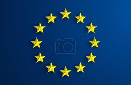 Illustration pour Résumé créatif Drapeau de l'Union européenne Contexte - image libre de droit
