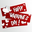 Happy Valentines Day card vector illustration...