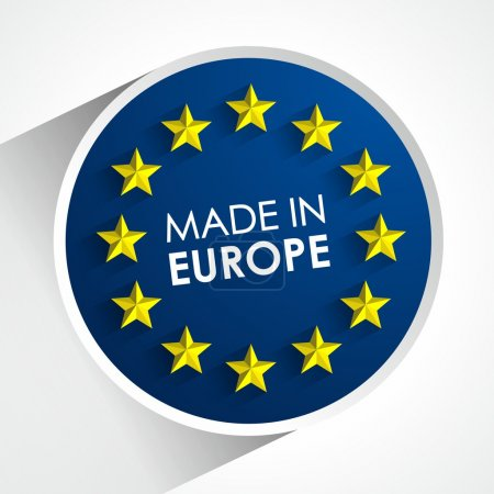 Illustration for Made In Europe Badge vector illustration - Royalty Free Image