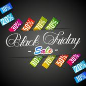 Creative Abstract Black Friday Sale vector illustration