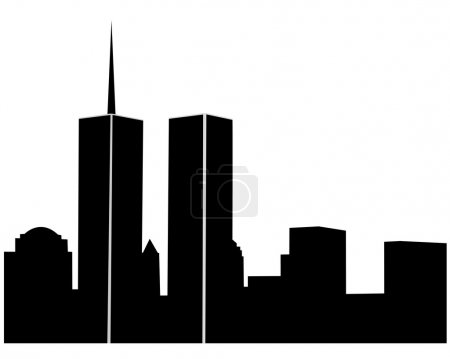 Illustration for Twin towers on a white background - Royalty Free Image