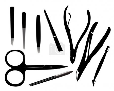 Illustration for Tools for manicure on a white background - Royalty Free Image