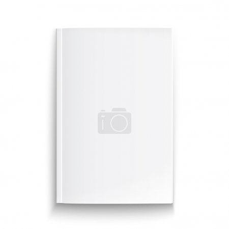 Illustration for Blank magazine template on white background with soft shadows. Vector illustration. EPS10. - Royalty Free Image