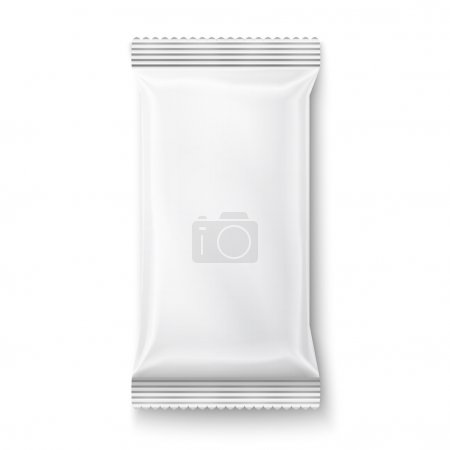White wet wipes package.