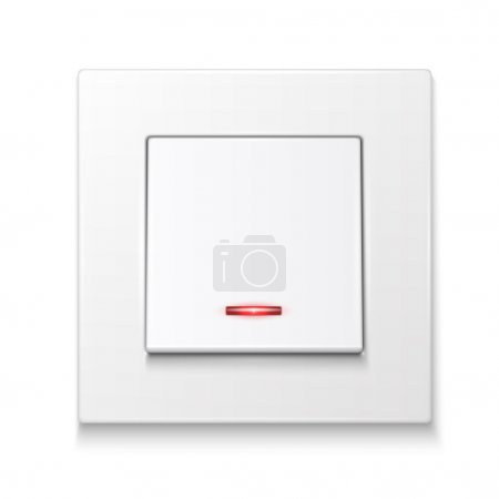 White wall switch with illumination.