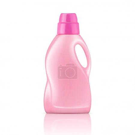 Pink liquid laundry detergent bottle.