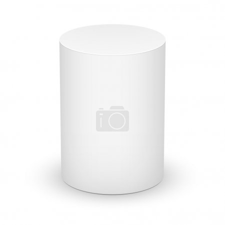 White cylinder on white background.