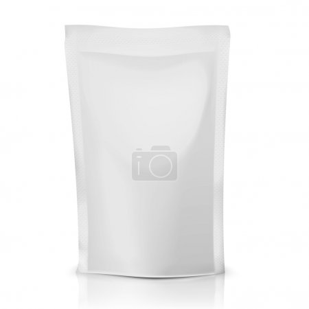 Blank polythene bag package.