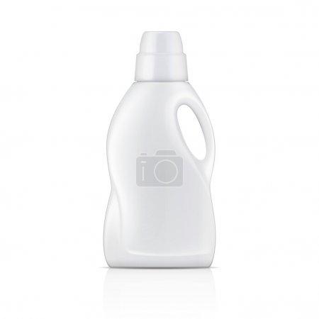White plastic bottle for liquid laundry detergent ...