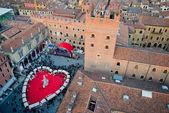 Vista panoramica di piazza dante, Verona