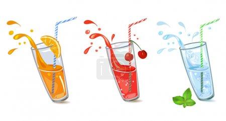 Illustration pour Ensemble de boissons rafraîchissantes. illustration vectorielle - image libre de droit