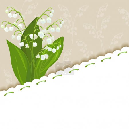 Vintage background with lilies of the valley