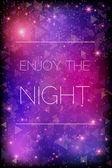 Glittering stars on purple background