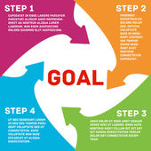 Template for your business presentation 4 steps to your GOAL
