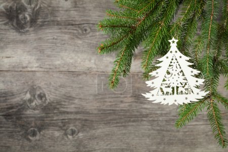 Photo for Christmas decoration on old grunge wooden background - Royalty Free Image