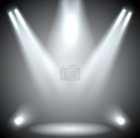 Scene illumination. Background lighting with spotlights.