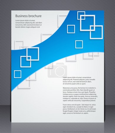 Business brochure. Layout template