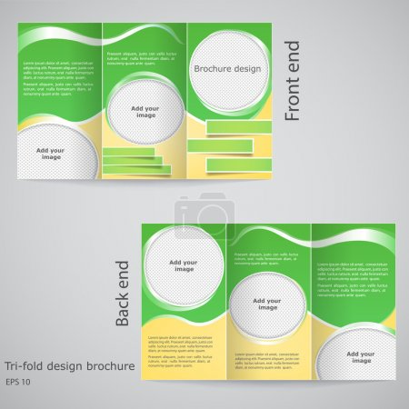 Tri-fold brochure design. Brochure template design with yellow