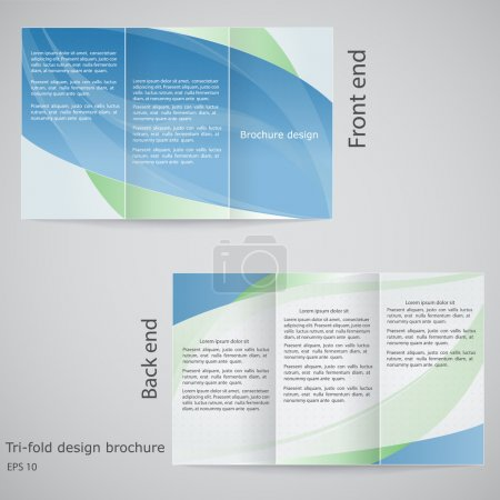 Tri-fold brochure design. Brochure template design in shades of