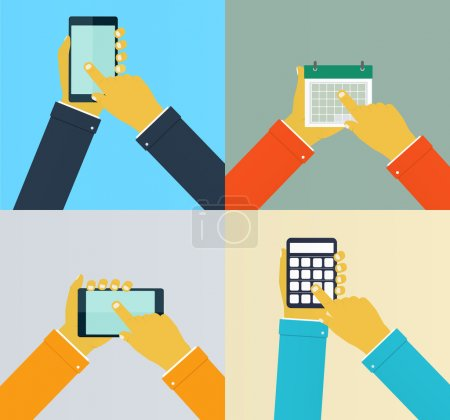 Interaction hands using mobile apps