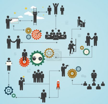 workforce, team working, business people in motion, motivation f