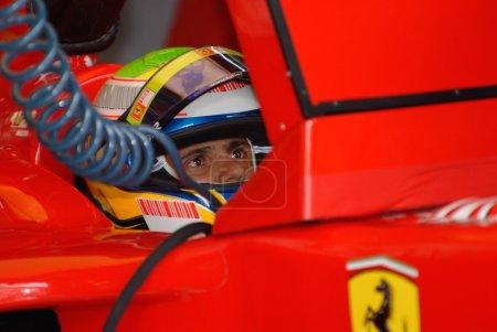 Photo for Head shot of Felipe Massa at Sepang F1 Malaysia 2007 Grand Prix - Royalty Free Image