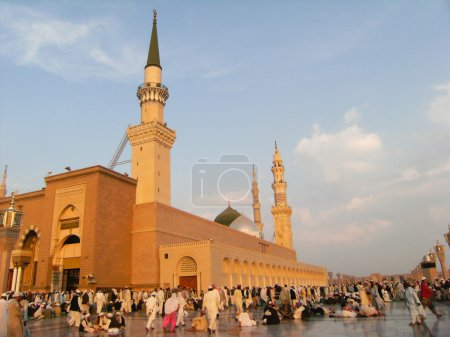 Muslims at Nabawi mosque.