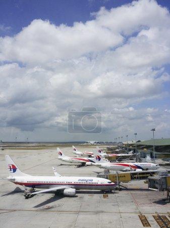KUALA LUMPUR INTERNATIONAL AIRPORT - MARCH 17: Malaysia Airlines