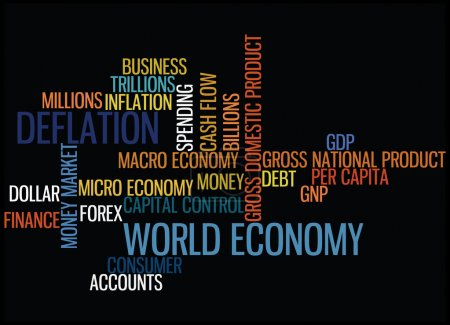 Illustration for World economy concept vector - Royalty Free Image