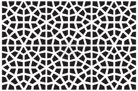 Seamless vector symmetrical arabic islamic pattern background