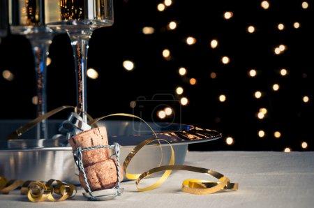 Foto de Año nuevo champán - Imagen libre de derechos
