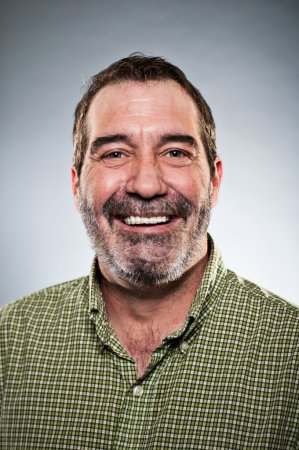 Mature Caucasian Man Smiling Portrait