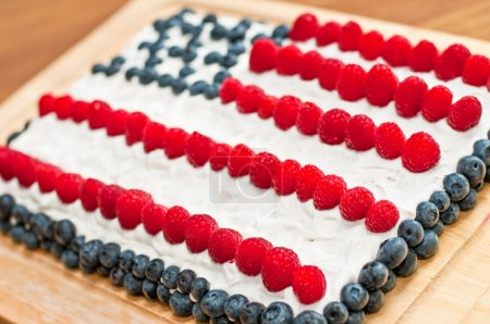 US Flag Fourth Of July Cake