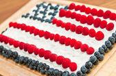 US Flag Fourth Of July Cake