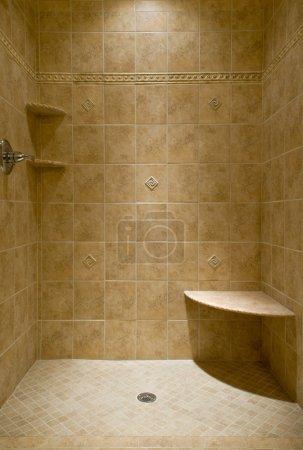 Custom Tiled Stand Up Shower