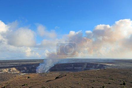 Smoke over Halemaumau Crater