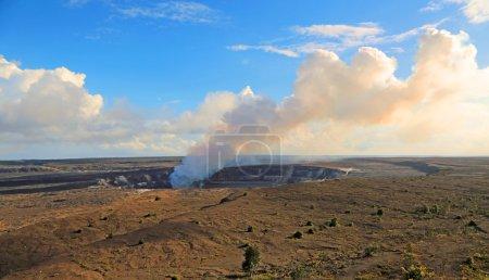 Smoking Halema'umau Crater