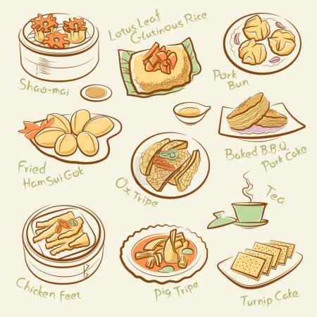 Set of chinese food.