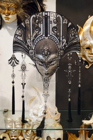 VENICE, ITALY, AUGUST 25: Venetian carnival masks for sale. The