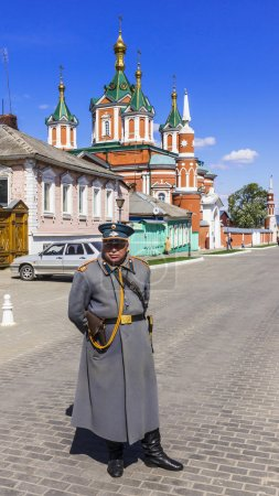 KOLOMNA , RUSSIA-MAY 3 . guard in the form of the 19th century p